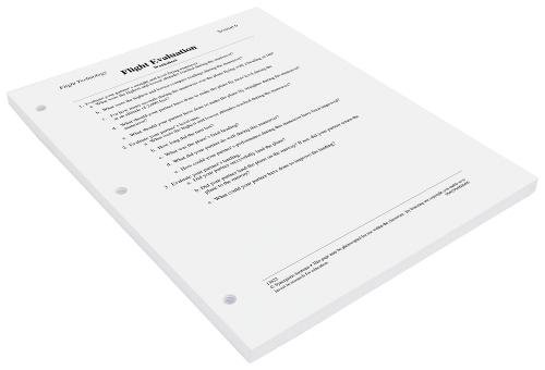 Flight Evaluation Worksheets (W13822)