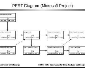 PERT Diagram (Microsoft Project)