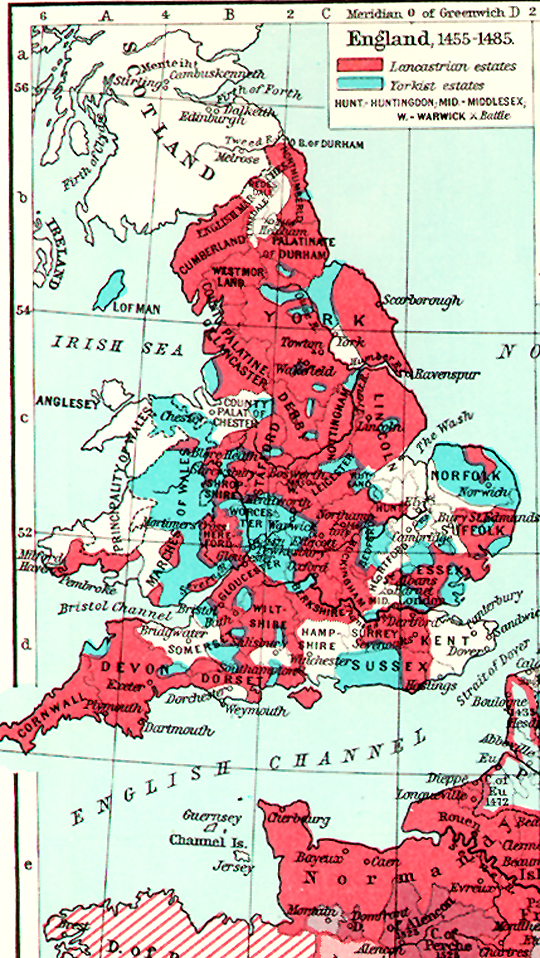 England Map Middle Ages