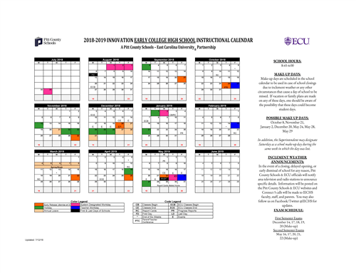 Calendar / School Calendar for Students