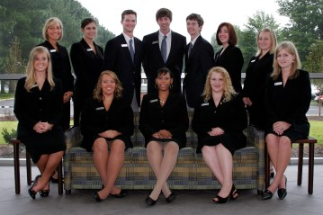 group of students all in black suits from 2009