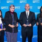 2018 alumni award winners posing