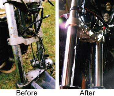 Pitted Forks  Motorbike Fork Rechroming  Motorcycle Fork