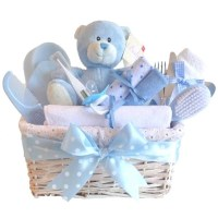 Angel DELUXE Baby Boy Gift Basket / Baby Boy Gift Hampers ...
