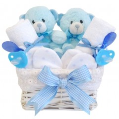 twin gifts nappy cakes