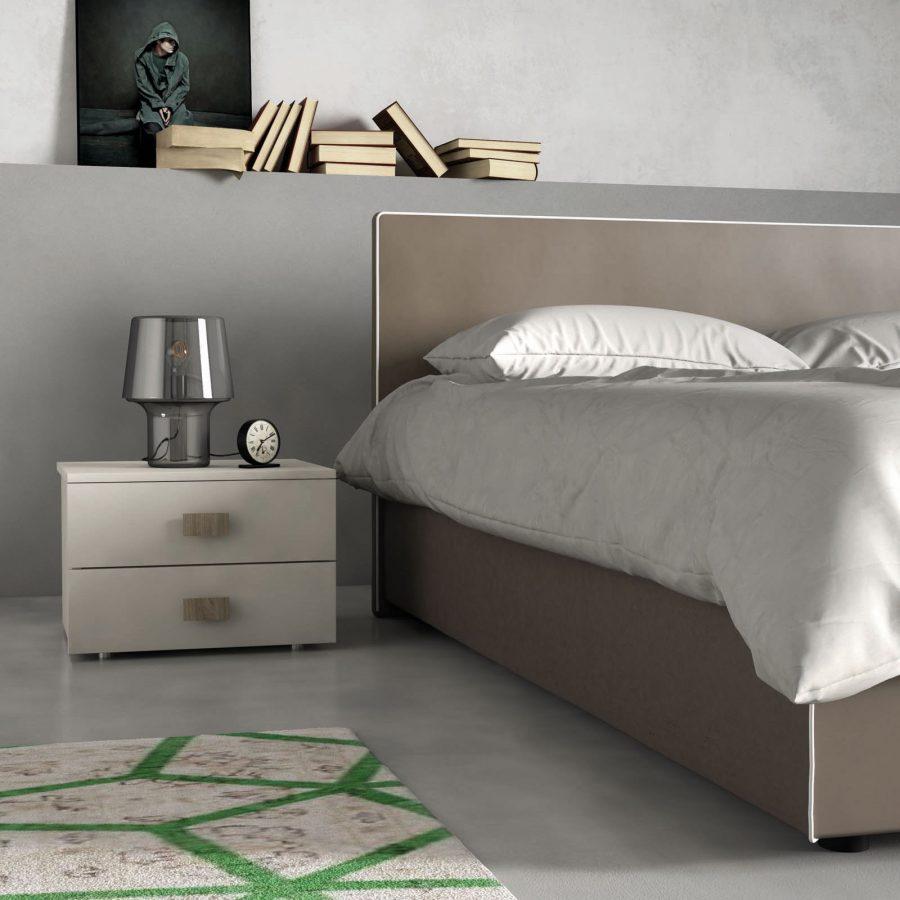 Camera da letto moderna minimal e letto imbottito con o senza contenitore  Consegne in Friuli a
