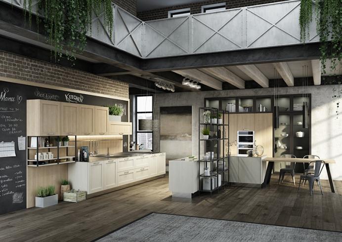 Cucina moderna e lineare dal stile Urban ante lisce o con telaio  Consegne in Friuli a Udine