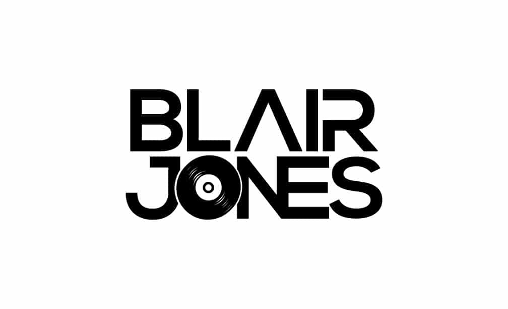 Dj Blair Jones White Logo