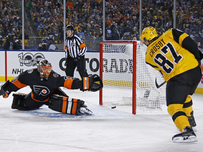 Penguins outlast Flyers, weather concerns at Heinz Field for Stadium Series win