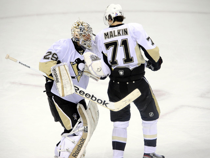 Evgeni Malkin bids Marc-Andre Fleury adieu in touching tribute