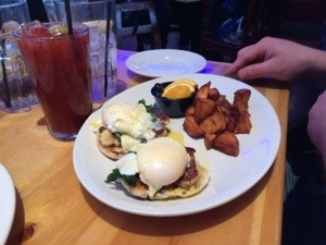 Crab Cake Benedict at Cadillac Ranch