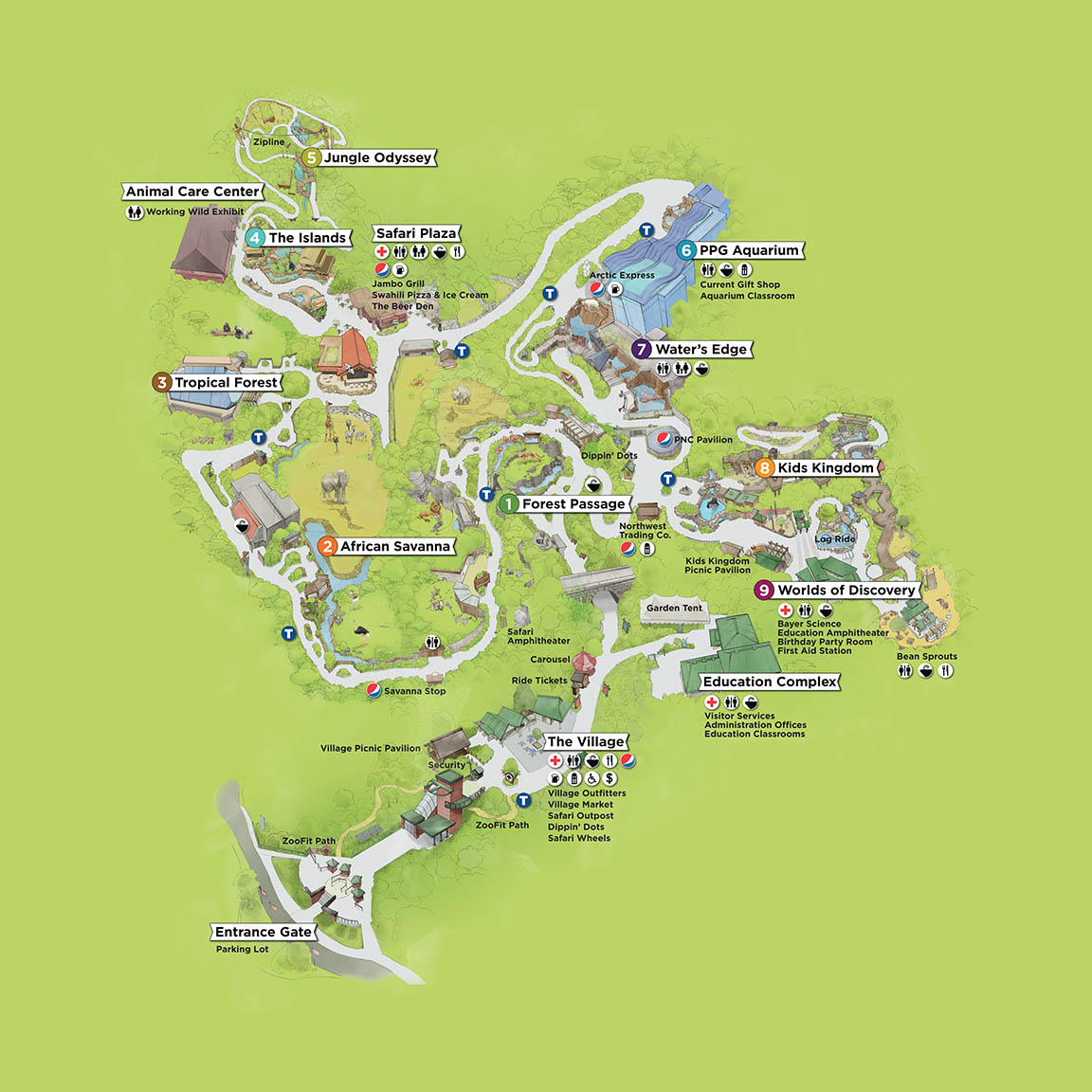 map pittsburgh zoo ppg