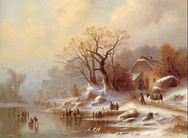 Linverno Paesaggi in pittura Vedute nei quadri