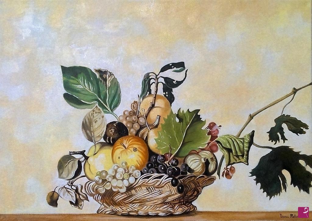 Vendita quadro  Caravaggio Omaggio  natura morta quadro
