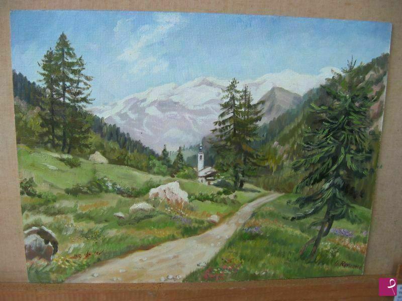 Vendita quadro  paesaggio di montagna  Giovanna