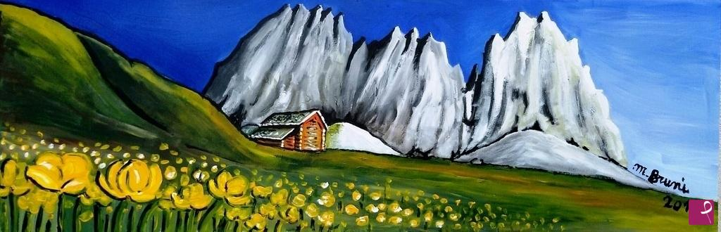 Vendita quadro  Paesaggio di montagna  Mario Bruni