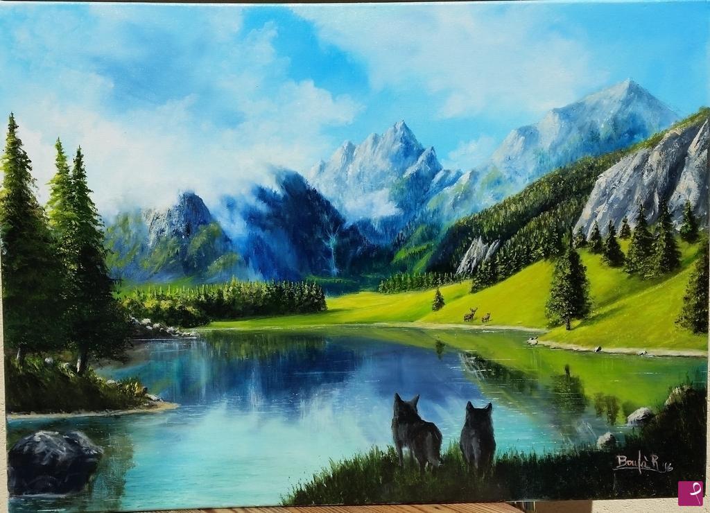 Vendita quadro  Paesaggio montano  Riccardo Bonf  PitturiAmo