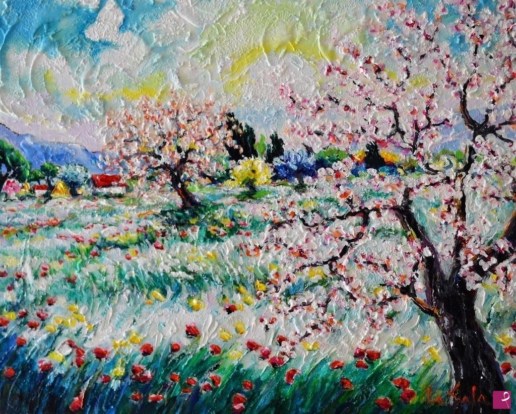 Vendita quadro  paesaggio primaverile  Michele La Sala
