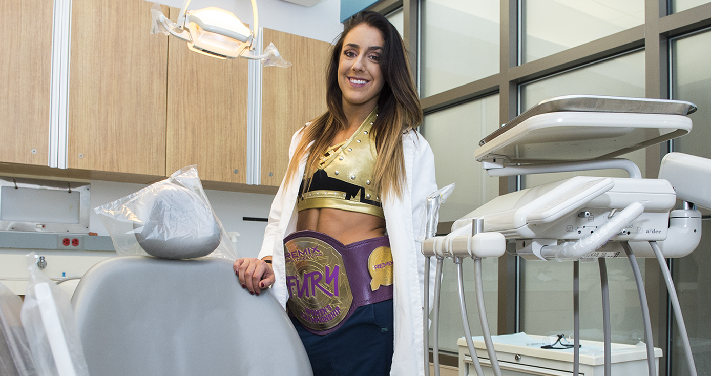 Wrestling Dental Student Visits Parts Unknown  Pittwire