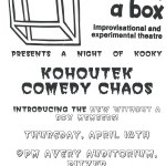 1990 Poster advertising Kohoutek Comedy Chaos