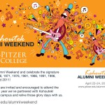 2016 Invitation to Alumni Weekend which took place the same weekend as Kohoutek.