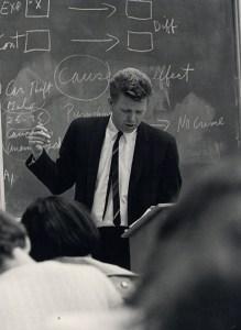 Al Schwartz in the classroom