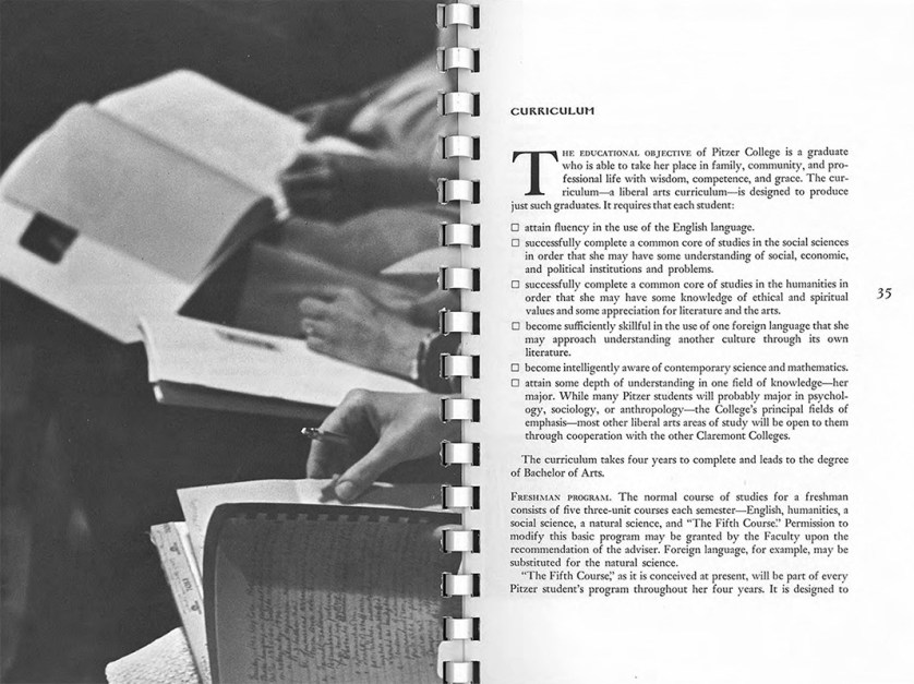 Pages from Pitzer College Bulletin, Vol.2, No. 1, 1964-1965