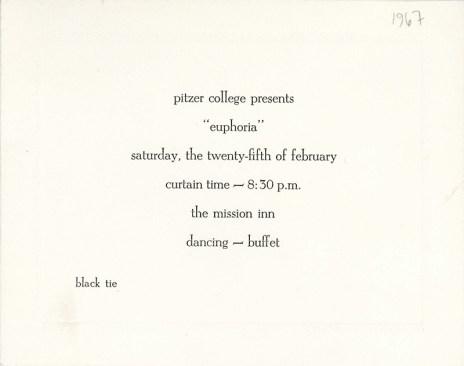 """""""Euphoria"""" Invitation Card, 1967"""