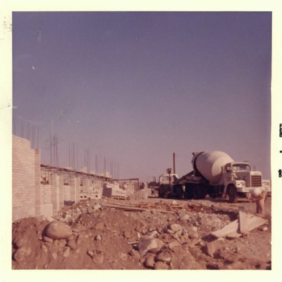 Holden Hall Construction with Cement Mixer, 1965