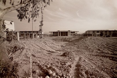 Central Campus Before Landscaping, 1968