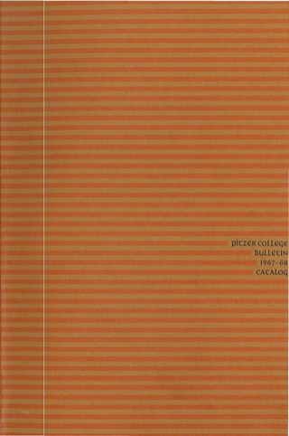Cover of Pitzer College Bulletin, Vol. 5, No. 2, 1967-1968
