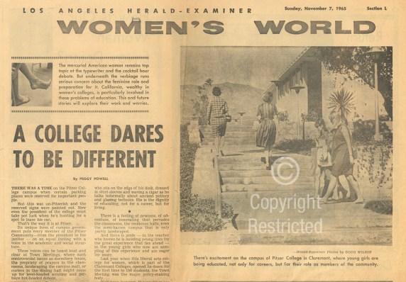 Los Angeles Herald-Examiner article, November 7, 1965