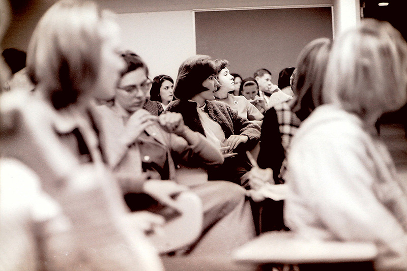 Interested Students and Faculty at Town Meeting, 1965