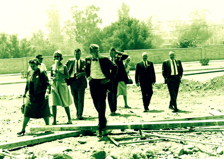 Group at Construction Site, 1964