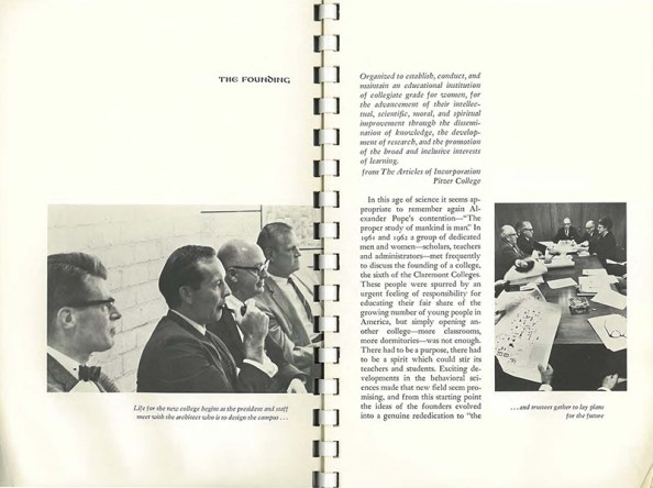 From Pitzer College Bulletin, 1964-65