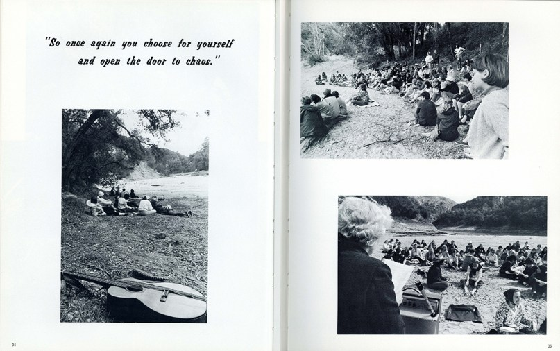 Page from Pitzer College Yearbook, 1965-66