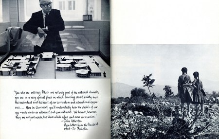 Page from Pitzer College Yearbook, 1971-72