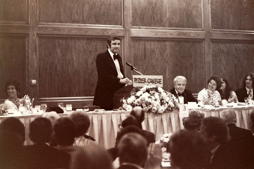 President Atwell Speaking at Podium, 1974