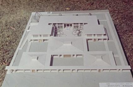 Bird's-eye View of Model of Scott Hall's Unbuilt Plan (East), undated