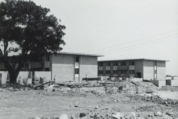 Construction of Sanborn Hall, 1964