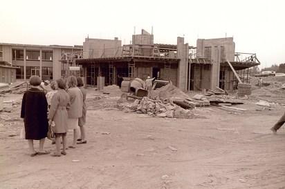 Scott Hall (left) and Bernard Hall Under Construction (right), September 1965
