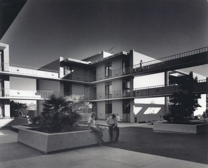 Students in Mead Hall Courtyard, undated