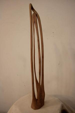 Trom Bone (2008), Eucalyptus wood, 29 x 6 x 4 inches, Courtesy of the artist