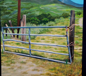 Saddleback from the Pasture (2010); Acrylic paint on canvas; 12×24 inches
