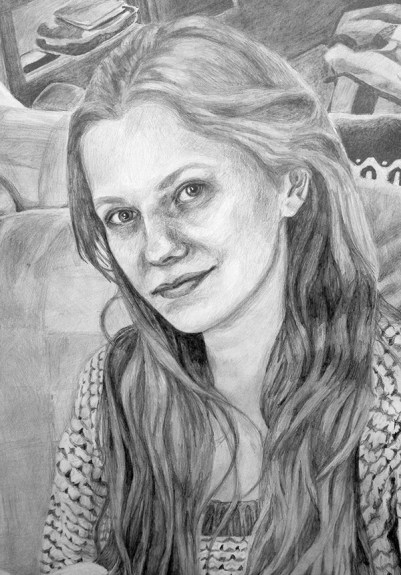 "Biz (detail), 2014; Pencil; 63"" x 42"""
