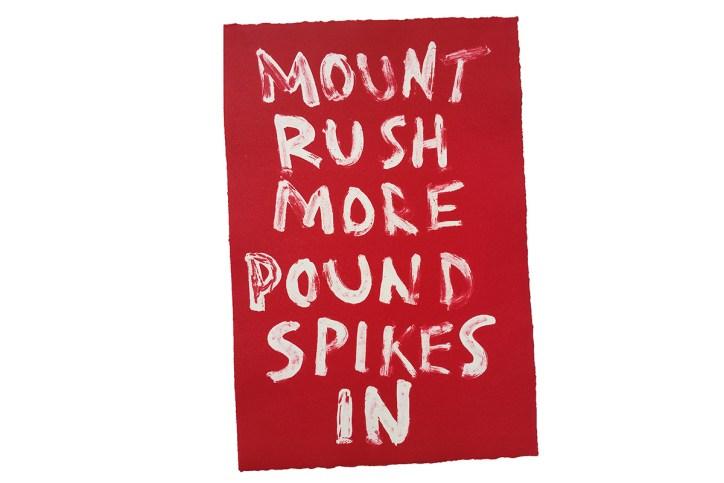 Edward Heap of Bird - Mount Rushmore Pound Spikes In
