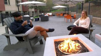 Outdoor community patio/fire pit