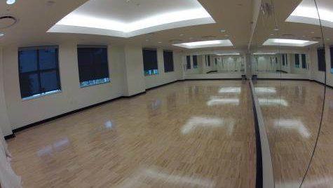 Gold Student Center yoga studio