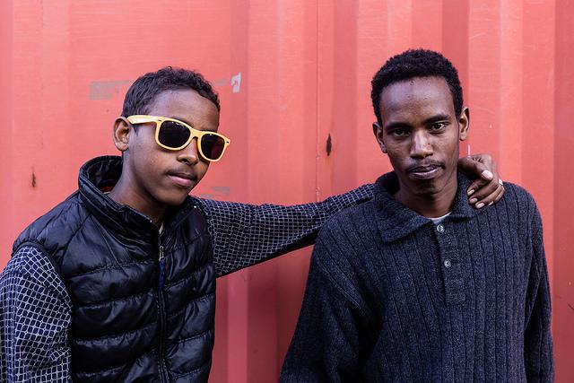 Oromo boys at the center CRI