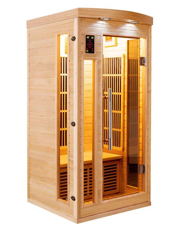 Sauna infrarossi 1 posto con irradiatori in carbonio